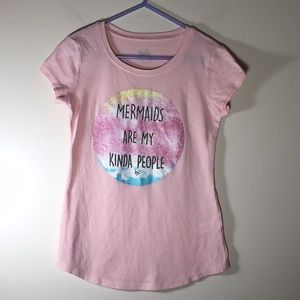 Justice Mermaid Pink Top Girls graphic t-shirt 7